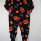 DISNEY CARS Boy's Size 3T LIGHTNING MCQUEEN Fleece Footed Print Pajama Sleeper
