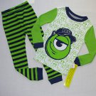 DISNEY MONSTERS UNIVERSITY Boy's Size 5 MIKE WAZOWSKI Pajama Set, NEW