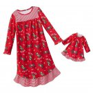 JUMPING BEANS Girl's Size 4 Christmas ReindeerMatching Doll Gown Set