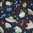 CARTER'S Boy's Size 18 Months Blue SPACE ALIEN SPACESHIP Pajama Sleeper, New