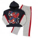 MARVEL SPIDER-MAN Boy's Size 6 GO SPIDEY Sweat Pants, Hoodie Outfit, NEW