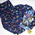 SUPERMAN BATMAN GREEN LANTERN Boy's Size 6/7 Flannel Pajama Set, NEW