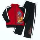 MARVEL Boy's Size 5 IRONMAN Zipper Top Jacket, Athletic Pants Set NEW