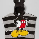"DISNEY MICKEY MOUSE Fleece Hooded Ponch, 21"" X 24"", NEW"