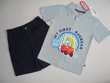 LITTLE TIKES Boy's Size 4T MY FIRST RACER Shorts Outfit, Set, NEW