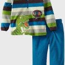 SESAME STREET Boy's Size 24 Months DINOSAUR Fleece Pants Set, Outfit, NEW
