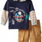 THOMAS And Friends Boy's Size 24 Months Hooded Shirt, Pants Outfit, NEW