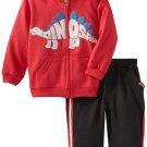 SESAME STREET Boy's Size 4T DINOSAUR Hooded Jacket Shirt Pants Outfit, NEW