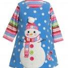 BONNIE JEAN Girl's Size 18 Months Fleece Winter Snowman Dress Jumper Set