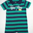 CARTER'S Boy's 18 Months Striped MOMMY'S BIG GUY Romper, One-Piece, NEW