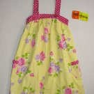 PENELOPE MACK Girl's 4T Yellow Dot Floral Sundress, Dress, NEW