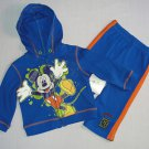 DISNEY MICKEY MOUSE Boy's 12 Months 3-Piece Outfit, Pants Jacket Set, NEW