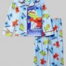 SESAME STREET BEST FRIENDS ELMO COOKIE, OSCAR Size 4T Pajama Set, NEW
