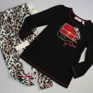 KIDS HEADQUARTER'S GIrl's 4T Shirt, Pants, Red Fleece Coat Jacket Outfit, Set