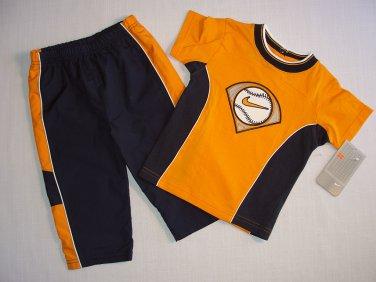NIKE Boy's Size 12 Months BASEBALL T-Shirt, Shirt, Athletic Pants Set, Outfit