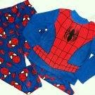 SPIDER-MAN Marvel Boy's Size 8 Fleece Pajama Pants Set, NEW