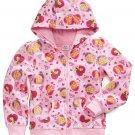 DISNEY PRINCESS Girl's Size 4 Pink Hooded Jacket Hoodie Faux Fur, NEW