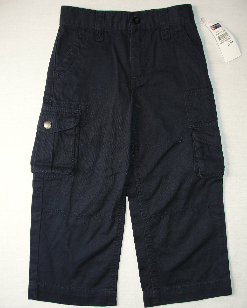 CHAPS Boy's Size 3/3T Navy Blue Cargo Pants, NEW, NWT