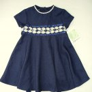 BONNIE JEAN Girl's Size 3T Blue Rose Lace Occasion Dress, NEW