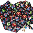 MARVEL AVENGERS HULK, SPIDER-MAN Boy's Size 8 Flannel Pajama Set, NEW