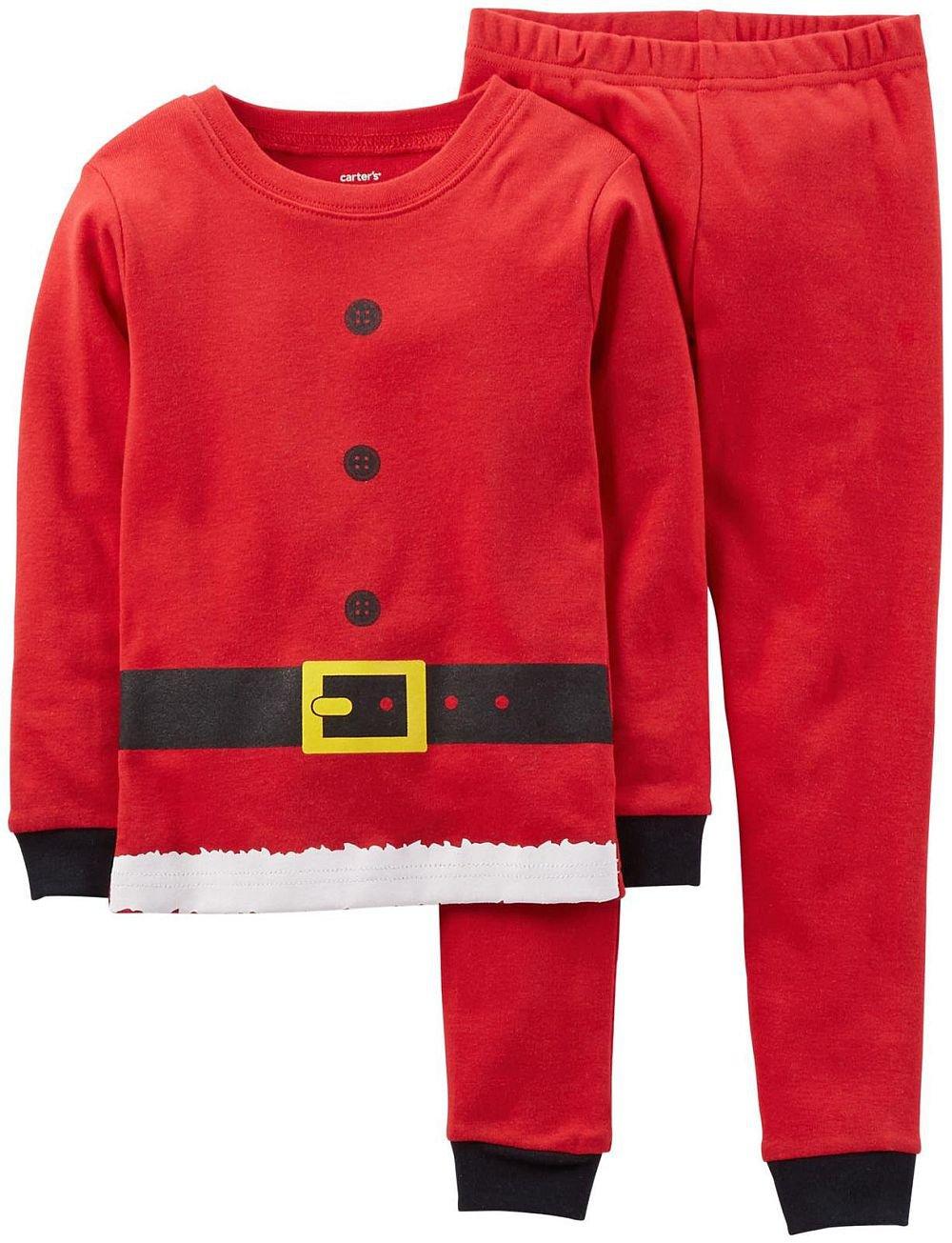 CARTER'S 4T CHRISTMAS Holiday SANTA Clause Suit Pajama Pants Set, NEW