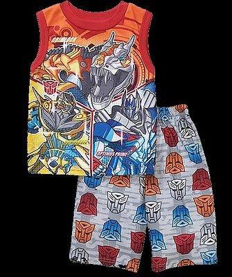 TRANSFORMERS AUTOBOTS Boy's Size 8 Pajama Shorts Set, DINOBOT, OPTIMUS