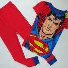 DC COMICS Boy's Size 4 SUPERMAN Short-Sleeved Pajama Top Pants Set
