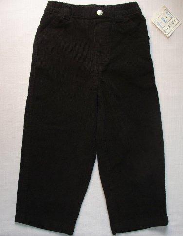 TKS BASICS Boy's 4T Black Pull-On Style Corduroy Pants, Bottoms, School