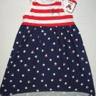 DISNEY Girl's Size 3T Red White Blue Stars Stripes MINNIE MOUSE