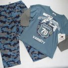 BUGLE BOY Boy's Size 4 Camo Athletic Pants Long-Sleeved Varsity Shirt