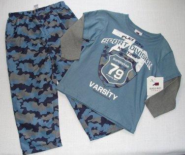 BUGLE BOY Boy's Size 4 Camo Athletic Pants Long-Sleeved Varsity Shirt