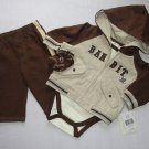 VITAMINS BABY Boy's 3 Months COWBOY BANDIT 4-Piece Set, Jacket, Pants, Shirt NEW