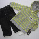 KIDS HEADQUARTERS Boy's 6-9 M Pants, Shirt and Thermal Jacket Set, MONSTERS