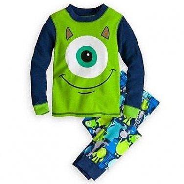 DISNEY MONSTERS MIKE WAZOWKSI Boy's Size 7 Pajama Pants Set, NEW