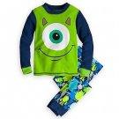 DISNEY MONSTERS MIKE WAZOWKSI Boy's Size 4 Pajama Pants Set, NEW