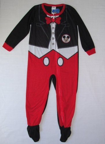 DISNEY Boy's 4T MICKEY MOUSE COSTUME PAJAMA SLEEPER