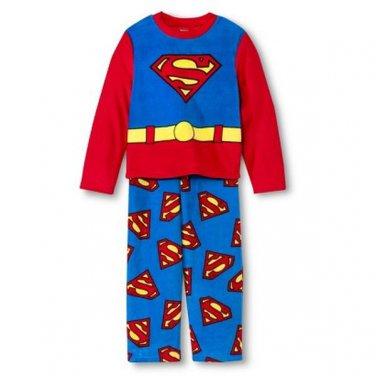 SUPERMAN Boy's Size 8 Fleece Pajama Pants Set, NEW