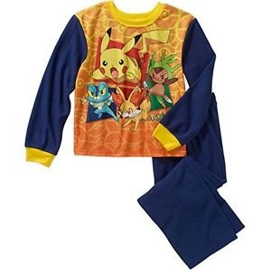 POKEMON PIKACHU Boy's Size 4/5 OR 6/7 Flannel Pajama Pants Set