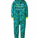 Dinosaur Lizard Boy's Size 6-7 OR 8-10 Fleece Pajama Hooded Sleeper