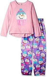 Girl's Size 4/5, 6/6X OR 7/8 Cupcake Snowman Satin Pj Pants Pajama Set
