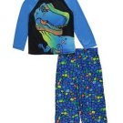 Boy's Size 8 Blue T-Rex Dinosaur Polyester Jersey Pajama Set