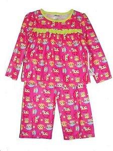 Girl's Size 3T Pink Flannel Owl Print Pajama Pants Set