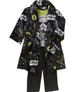 Star Wars Boy's Size 5T Fleece Bathrobe, Robe and Pajama Set