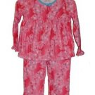 Girl's Size 4, 5/6 OR 6X Pink Unicorn and Star Print Flannel Pajama Set