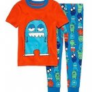 Toddler Boy's Blue MONSTER Size 3T OR 4T Cotton Pajama Pants Set