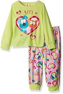 Toddler Girl's 3T OR 4T BFF Best Friends Cat and Dog Pajama Set