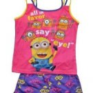 DESPICABLE ME Girl's Size 6/6X Pajama Tank Top Shorts Set
