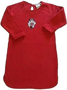 DISNEY MINNIE MOUSE Girl's Size 3-4 Years Red Fleece Nightgown