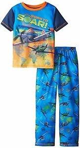Disney Planes Boy's Size 4/5 Polyester Short-Sleeved Pants Pajama Set