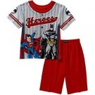 BATMAN, SUPERMAN Boy's Size 4/5 OR 8 Superheroes Pajama Shorts Set